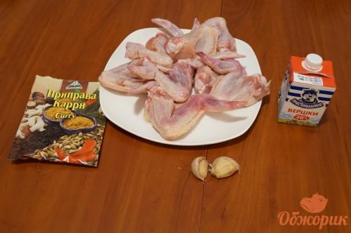 Приготовление жареных куриных крылышек