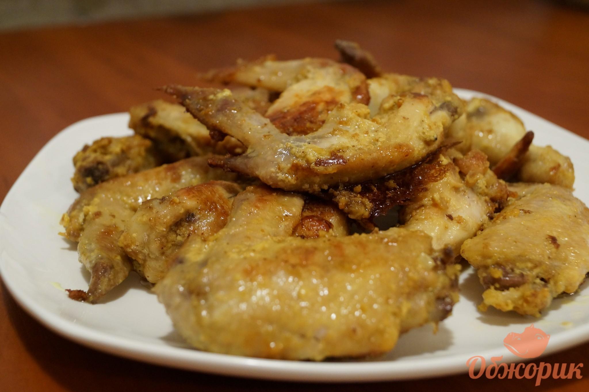Рецепт крылышек на сковороде