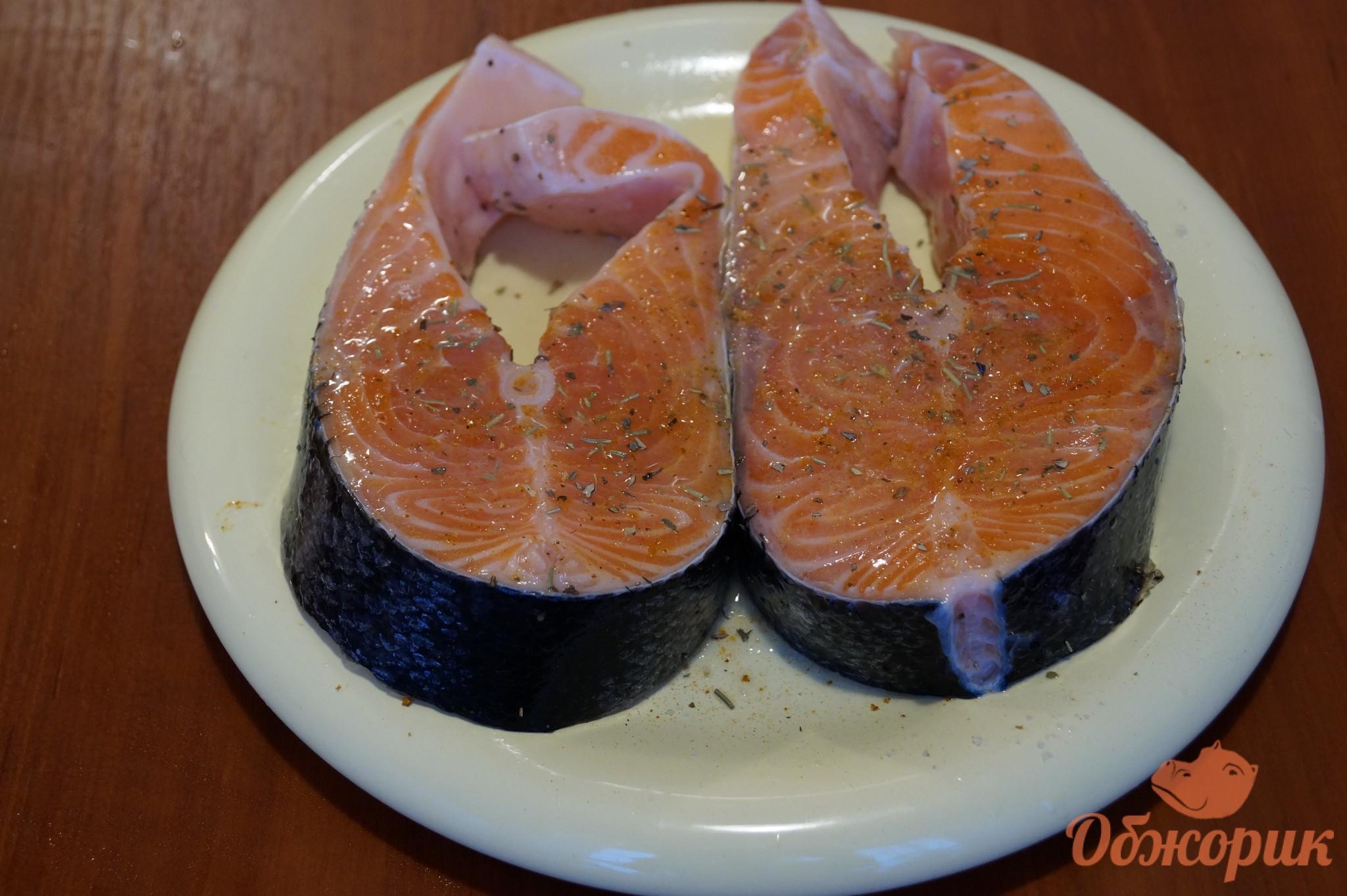 Запеченная сёмга в духовке рецепт пошагово