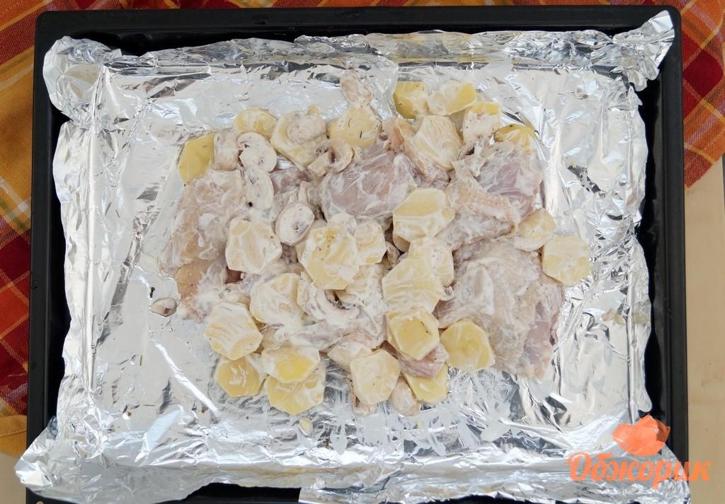 курица в духовке рецепты с фото с грибами и