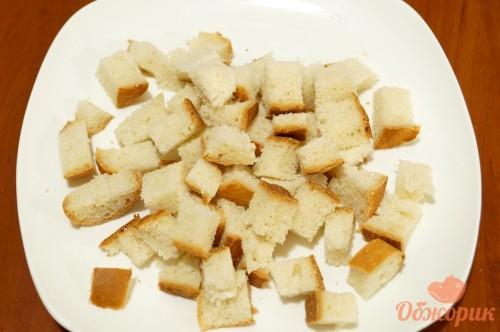 Как сделать сухарики для цезаря на сковороде