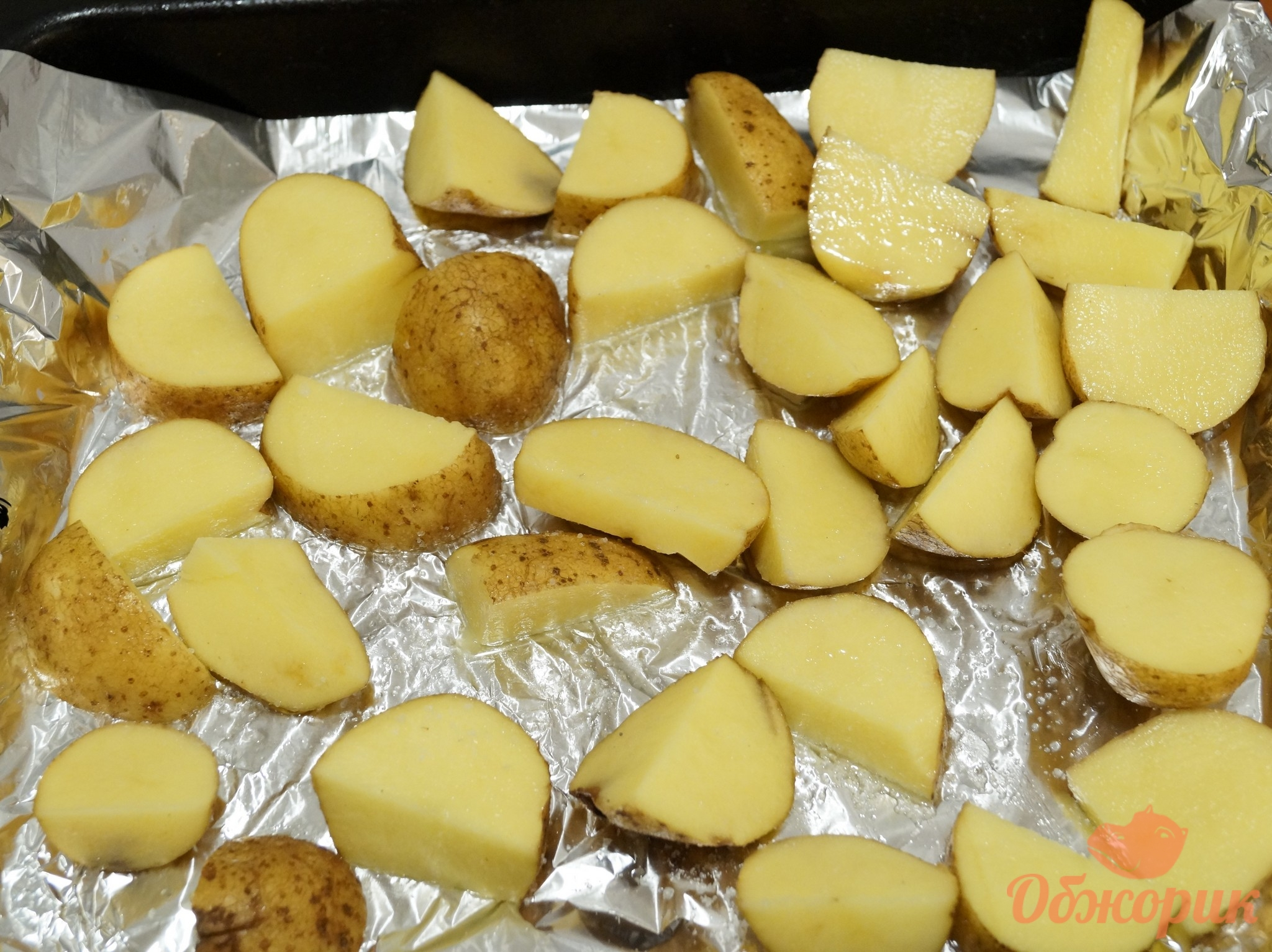 Рецепт картошки в духовке пошаговое фото