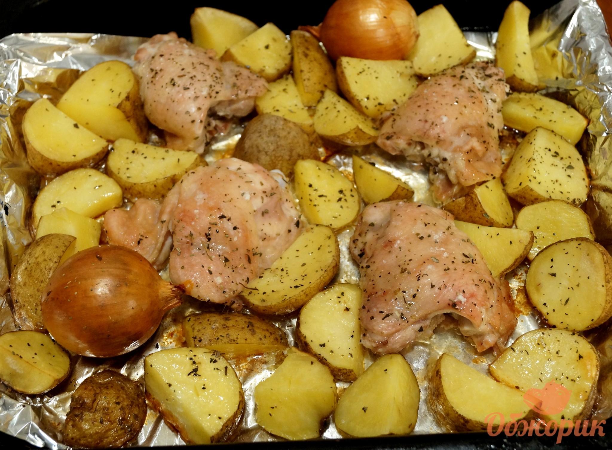 Картофельная запеканка с фаршем и шампиньонами в духовке рецепт с фото