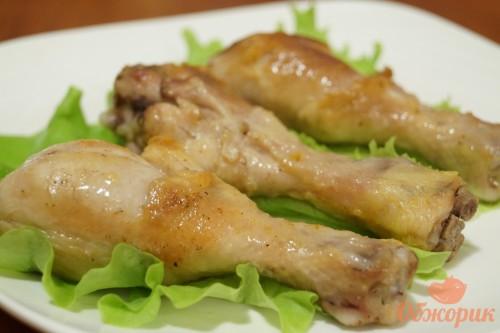 Жареные куриные голени