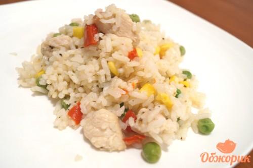 Рис с курицей и овощами рецепт