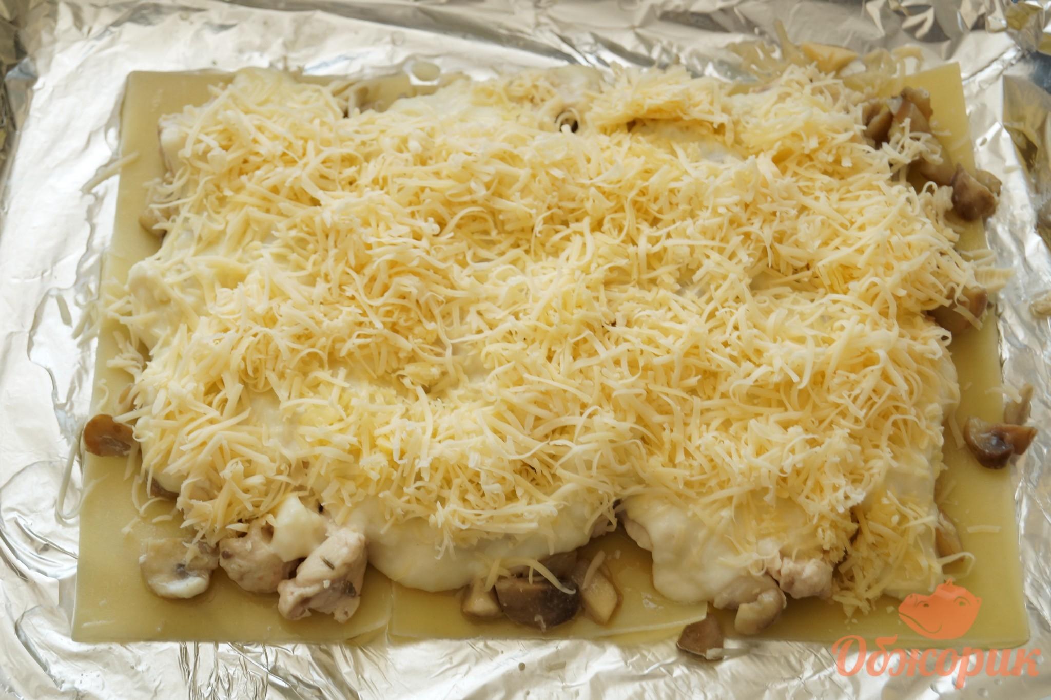 Лазанья с грибами и курицей - пошаговый рецепт с фото 32