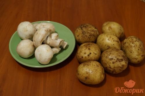 Приготовления картофеля с грибами