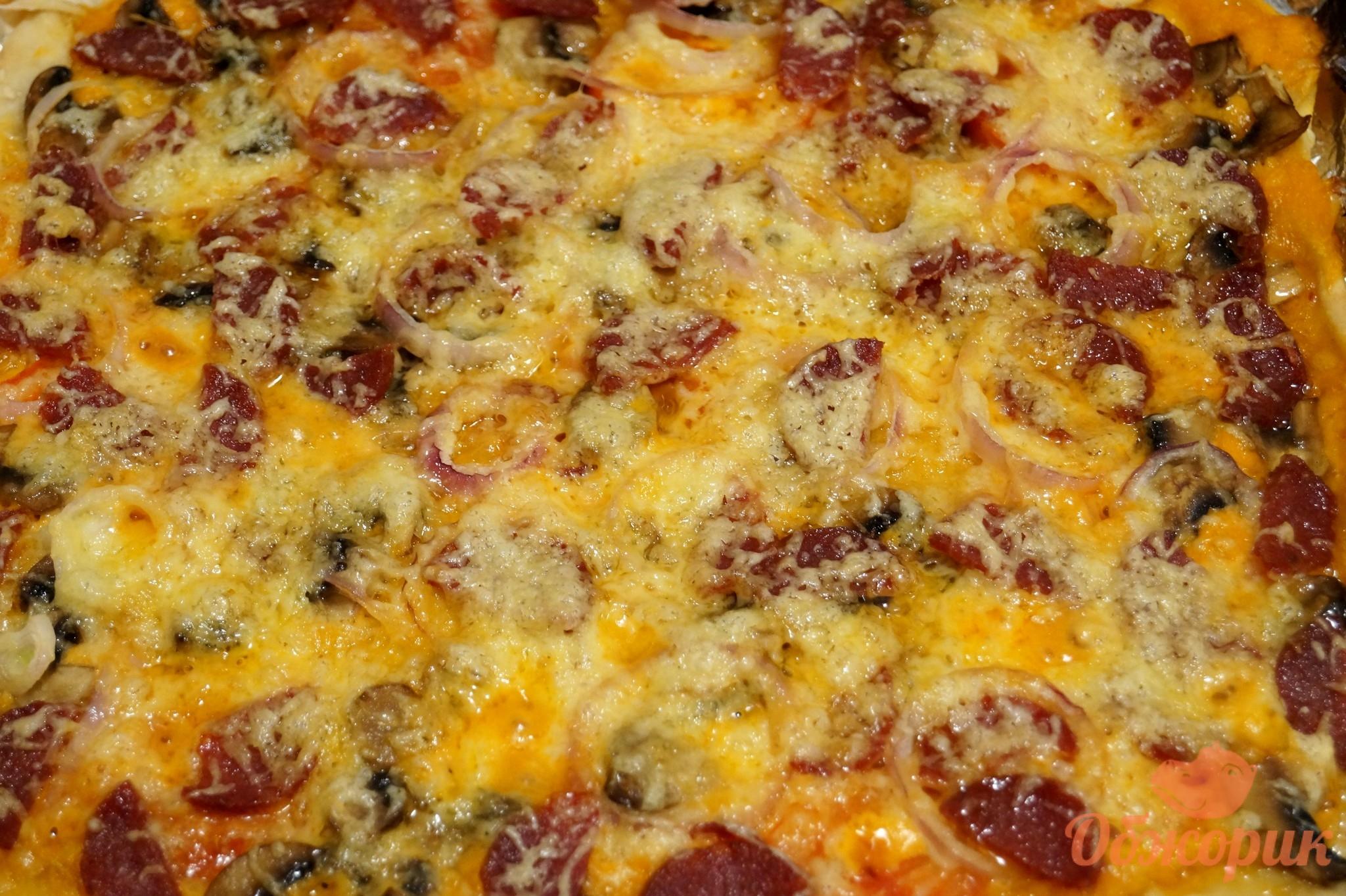 Грибная пицца рецепт пошагово в