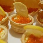 Тарталетки с красной икрой рецепт