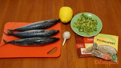 Приготовление запеченной скумбрии
