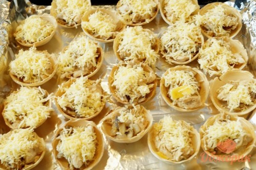 Приготовление жульена в тарталетках