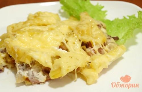 Приготовление картошки с мясом в духовке