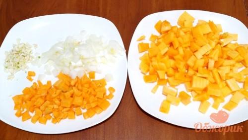 Приготовление тыквенного супа пюре