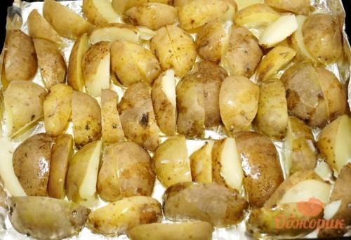 Приготовление картофеля с беконом