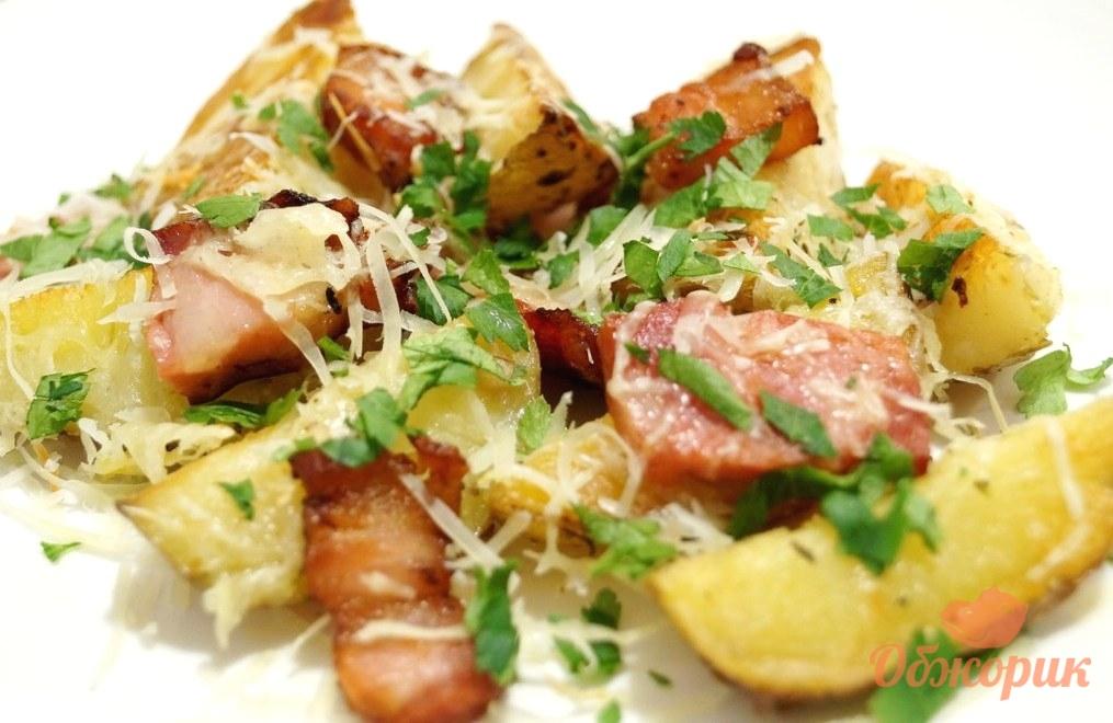 рецепт чесночная картошка в духовке