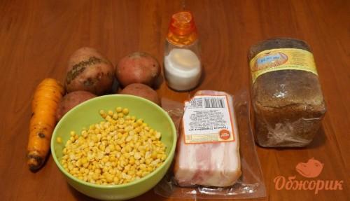 Приготовление горохового супа с грудинкой