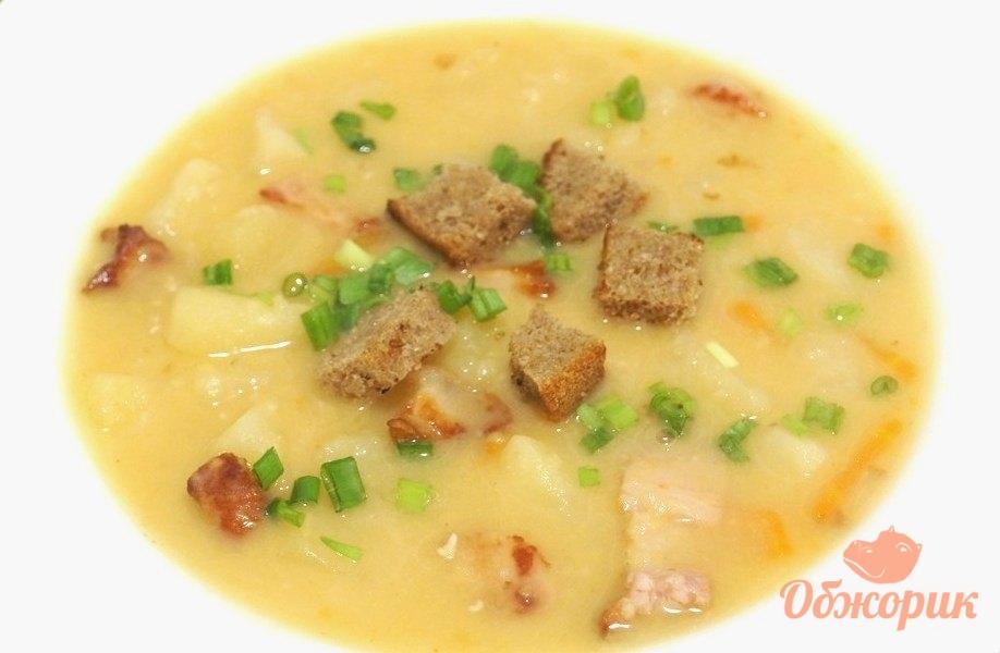 Суп гороховый с грудинкой пошаговый рецепт с фото
