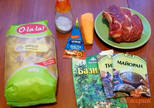 Приготовление макарон с тушеным мясом