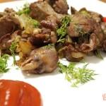 Рецепт приготовления жареной куриной печени с сердечками
