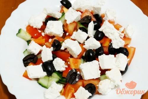 Приготовление греческого салата