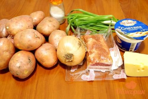 Приготовление картошки с беконом в горшочках