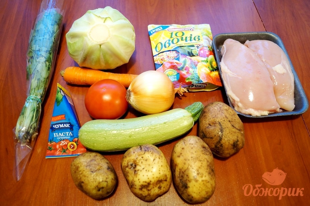 рецепт овощного рагу с курицей