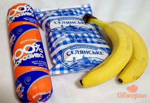 Приготовление бананового молочного коктейля