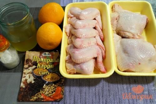 Курица в медово-апельсиновом соусе