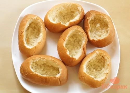 Приготовление булочек с жульеном