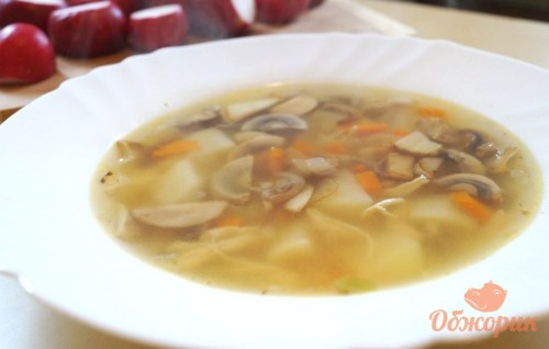 Курино-грибной суп