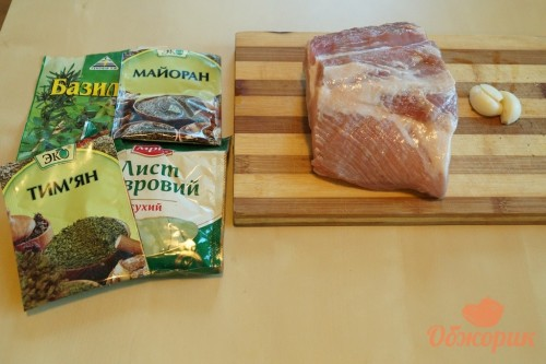 Приготовление запеченной свиной корейки
