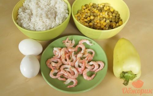 Приготволение риса с креветками
