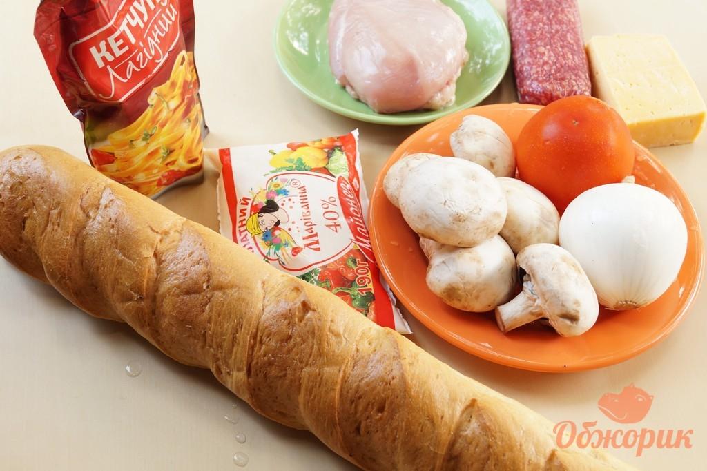 французская пицца на багете рецепт фото