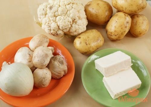 Приготовление супа пюре с цветной капустой и грибами