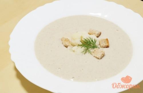 Грибной суп пюре с цветной капустой
