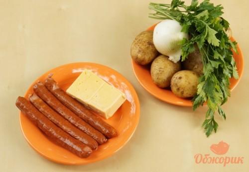 Приготовление картошки с колбасками