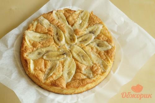 Приготовление яблочно-бананового пирога