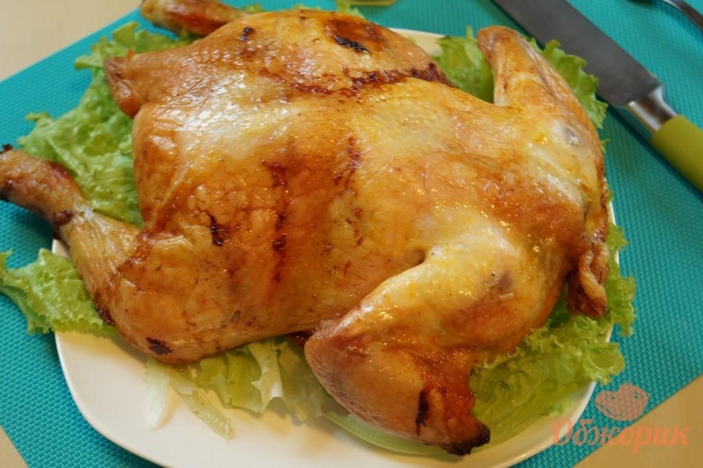 целая курица с лимоном в духовке рецепт с фото