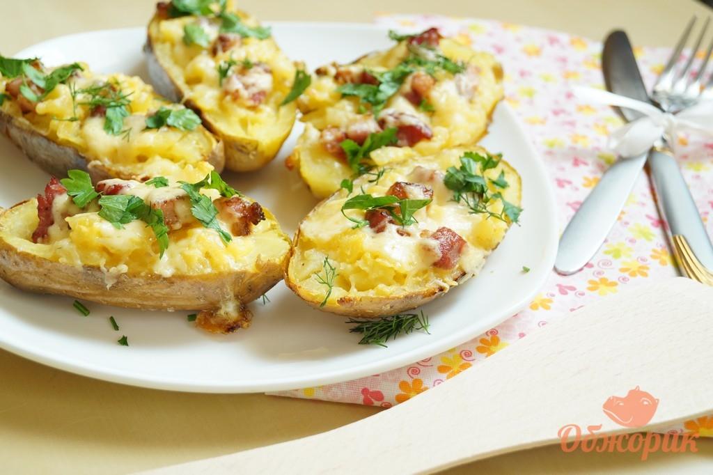 картошка в духовке с майонезом и сыром и мясом в духовке рецепт с фото