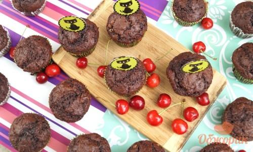 Шоколадно банановые маффины
