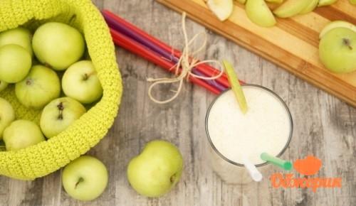 Персиково-яблочный молочный коктейль рецепт
