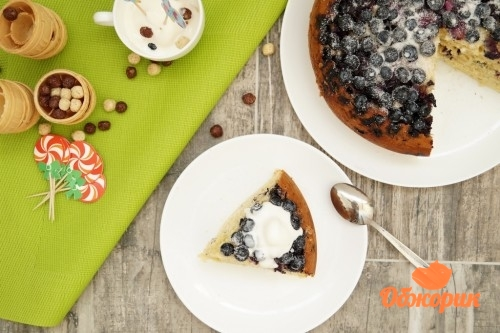 Пирог с голубикой рецепт