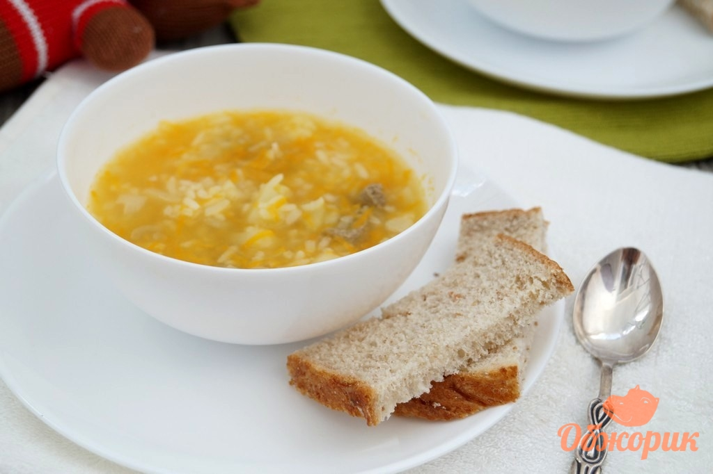 рецепт супа с черным рисом