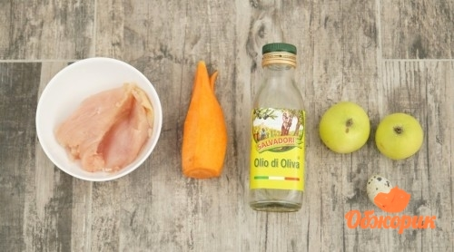 Рецепт куриного пюре с яблоком