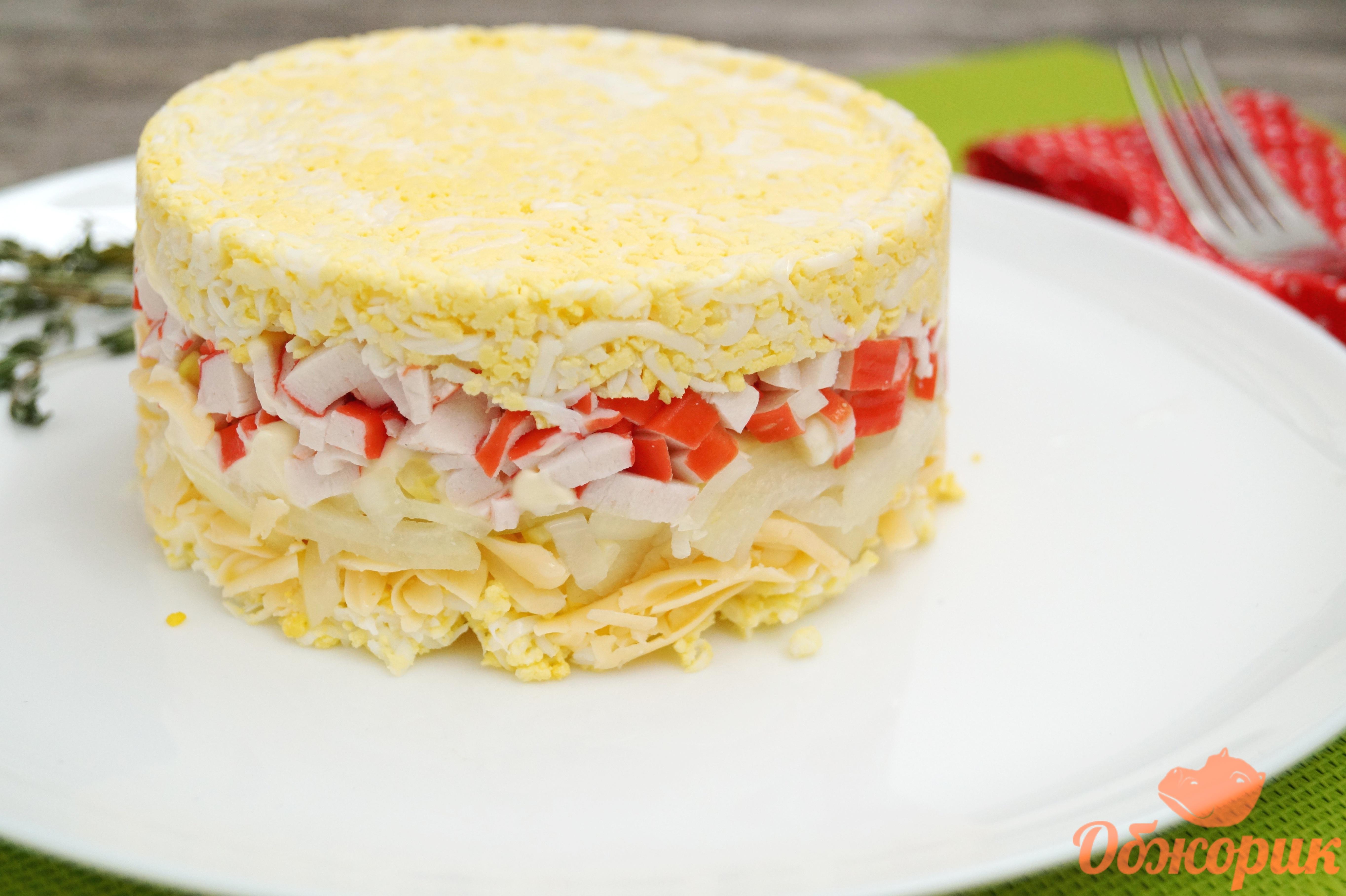 салат крабовые палочки сыр рецепт с фото