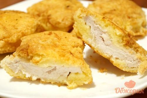 Рецепт приготовления куриных отбивных с сырной корочкой