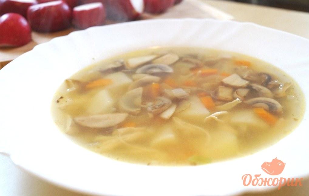 Курино-грибной суп рецепт