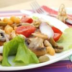 Теплый салат рецепт